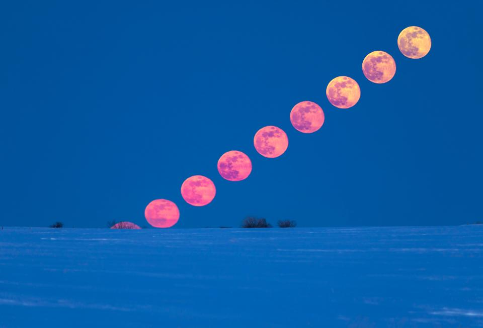 The rising of the Full Moon.